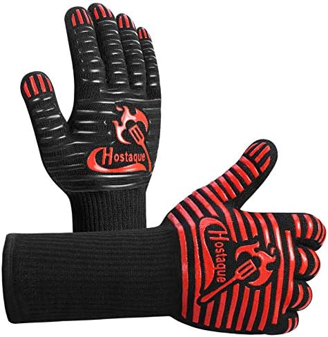 Grilling Gloves 1472 Extreme Heat Resistant Grill BBQ Gloves for Men Silicone Non Slip Kitchen product image