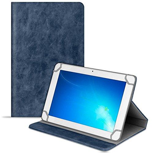 Cover Tablet voor Universal 10 Zoll | Blauw hoesje van synthetisch leer | Glad
