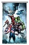 AG Design Avengers Marvel Captain America Kinderzimmer Gardine/Vorhang, 1 Teil, Stoff, Mehrfarbig, 140 x 245 cm