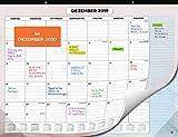 Wandkalender 2020 von SmartPanda - Kalendar 2020 - Monatskalender für den Tisch Von Juli 2019 bis Dezember 2020 - Ein Monat zur Ansicht - 33 cm x 43 cm - auf Deutsch