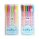 6/12 Pcs Popular 3D Jelly Pen set, uego de bolígrafos de gel brillante con tinta de gelatina brillante resistente al...