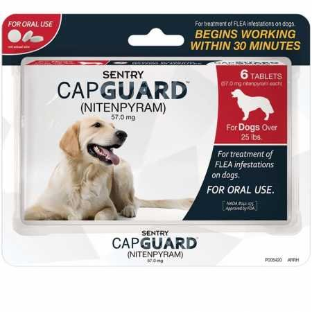 Sentry Capguard for Dogs Over 25 lb - 6 Count