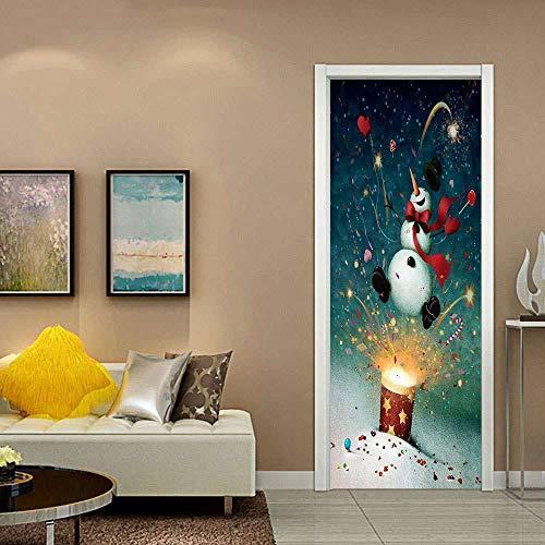 BXZGDJY 3D Puerta Fondo De Pantalla - Creatividad De Fuegos Artificiales 95X215Cm Puerta De Película De Pvc Extraíble Autoadhesiva Sala De Estar Dormitorio Oficina Para Niños Restaurante Bar Baño Coc