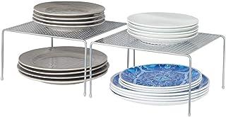 mDesign étagère cuisine (lot de 2) – rangement cuisine autoportant en métal – petit range vaisselle de cuisine pour tasses...