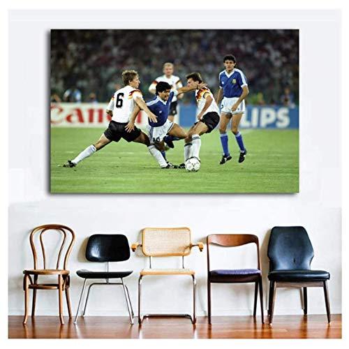 HHLSS Wandbilder 40x50cm ohne Rahmen Fußball Sport Legende Fußball Bild Wandkunst Poster Leinwand Kunstdrucke Gemälde für Wohnzimmer Dekor