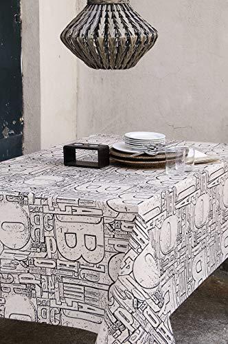 Mantel textil antimanchas modelo Urban, resinado y con Teflón de Dupont® - 150x250 - negro