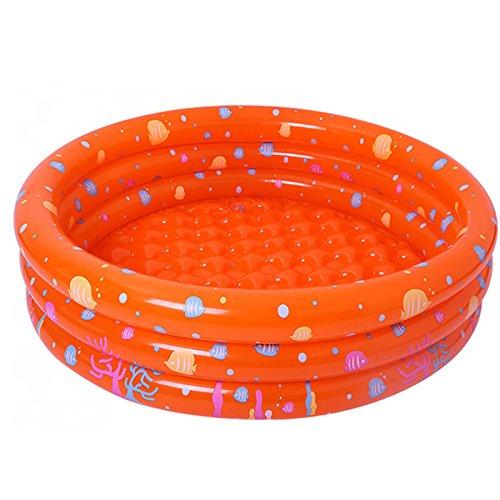Bañera infantil hinchable para bebés, piscina hinchable para bebés con 50 pelotas, bañera antideslizante plegable para viaje, espeso, baño y ducha, tamaño grande, 80 x 80 x 28 cm