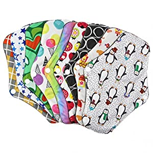 Bamboo Charcoal Fiber Reusable Cloth Menstrual Pad Waterproof Washable Women Sanitary Napkins Button Fixed Menstrual Cloth Panty Liners for Regular Flow Comfort and Support