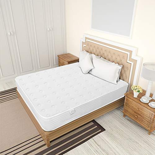 Kono Single Mattress - 7.8 Inch Pocket Sprung Mattress - Memory Foam Mattress with Breathable Foam and Luxurious Jersey Knitted Fabric - 3FT Medium Firm Feel - 90cm x 190cm