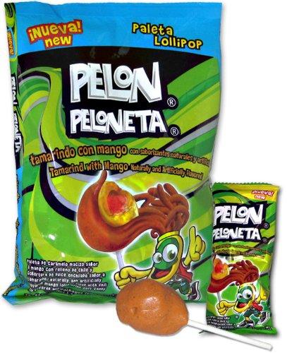 Pelon Peloneta Tamarind with Mango Lollipops (18 pc)