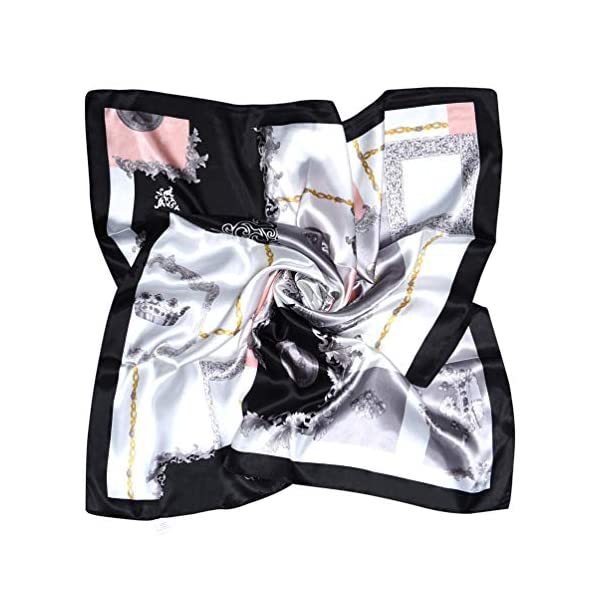 Vbiger Women Large Square Satin Scarf Mixed Neck Head Scarf Set 35x35inch