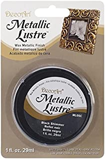 DecoArt, Black Shimmer Metallic Lustre Wax, 1-Ounce, Onе Paсk