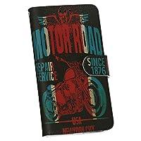 iphone7 ケース カバー 手帳 スマコレ 手帳型 レザー 手帳タイプ 革 スマホケース スマホカバー 014393 バイク 乗り物 ロゴ