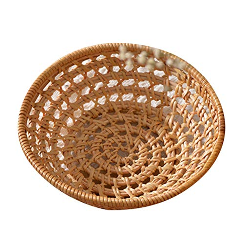Aiglen Cesta de Almacenamiento Tejida de ratán, Soporte para Toallas, Organizador de Pasteles, Accesorios de fotografía (Size : Large)