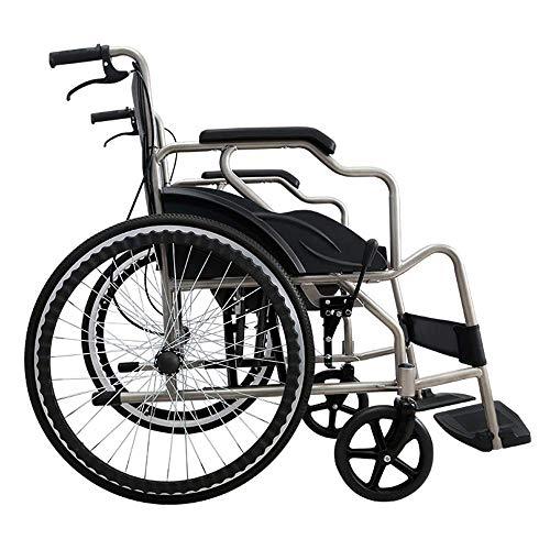 SuRose Freizeit Bewegung Rollstuhl 19 kg tragbare Falten manuellen medizinischen Stuhl Bequeme armlehne schaukel beinauflage 110 kg Last Lager 40 * 40 cm Sitz