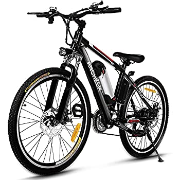 ANCHEER 500W/250W Electric Bike Adult Electric Mountain Bike 26  Electric Bicycle 20Mph with Removable 12.5Ah/8AH Lithium-Ion Battery Professional 21 Speed Gears