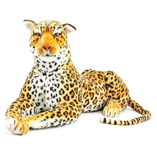 art decor XL Plüschtier Leopard, Größe gesamt 160cm, Raubkatze, Stofftier, Kuscheltier