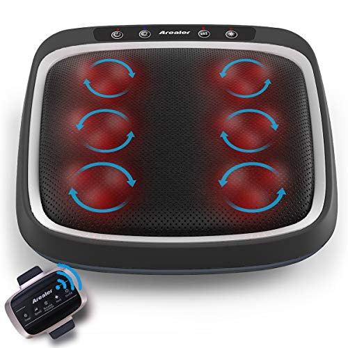 Review Of Arealer Foot Massager with Remote Control, Shiatsu Deep Kneading Back Massager with Heat, ...