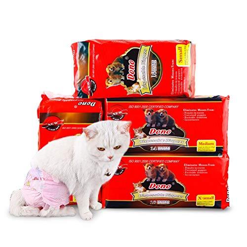 Einweg-Windeln für Rüden, super saugfähig, weich, für Rüden, inkl. 4 Größen, XS, S, M, L, Haustierwindeln für Hunde und Katzen
