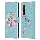 Head Case Designs Licenciado Oficialmente My Little Pony Rainbow Dash Crush de azúcar Carcasa de Cuero Tipo Libro Compatible con OPPO Find X2 Pro 5G