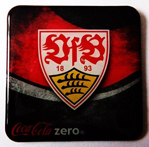 Coca-Cola Zero - Fußballvereine - VfB Stuttgart - Kühlschrankmagnet 6 x 6 cm