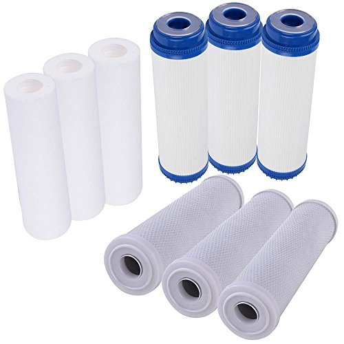 1-Year Drinking RO Reverse Osmosis Water Filters Cartridge Replacement Set for 5 Stage Water Filtration System All NSF Certified