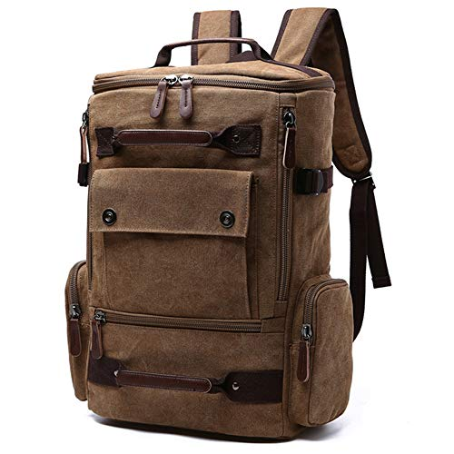Tasche Männer Laptop Rucksack 15 Zoll Rucksack Leinwand Schultasche Reiserucksäcke für Teenager Männlich Notebook Rucksack Wandern Tasche Fahrrad Rucksäcke Computer Rucksack Taschen