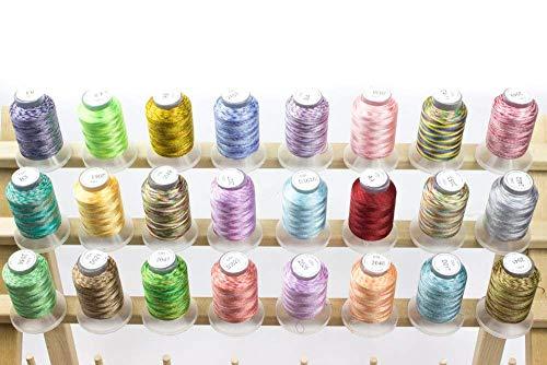 Embroidex 24 Spools Variegated...
