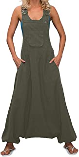 GreatestPAK Womens Loose Wide Leg Bib Pants Plus Size Summer Sleeveless Solid Back Bow Tie Sling Halter Romper Playsuit Jumpsuits