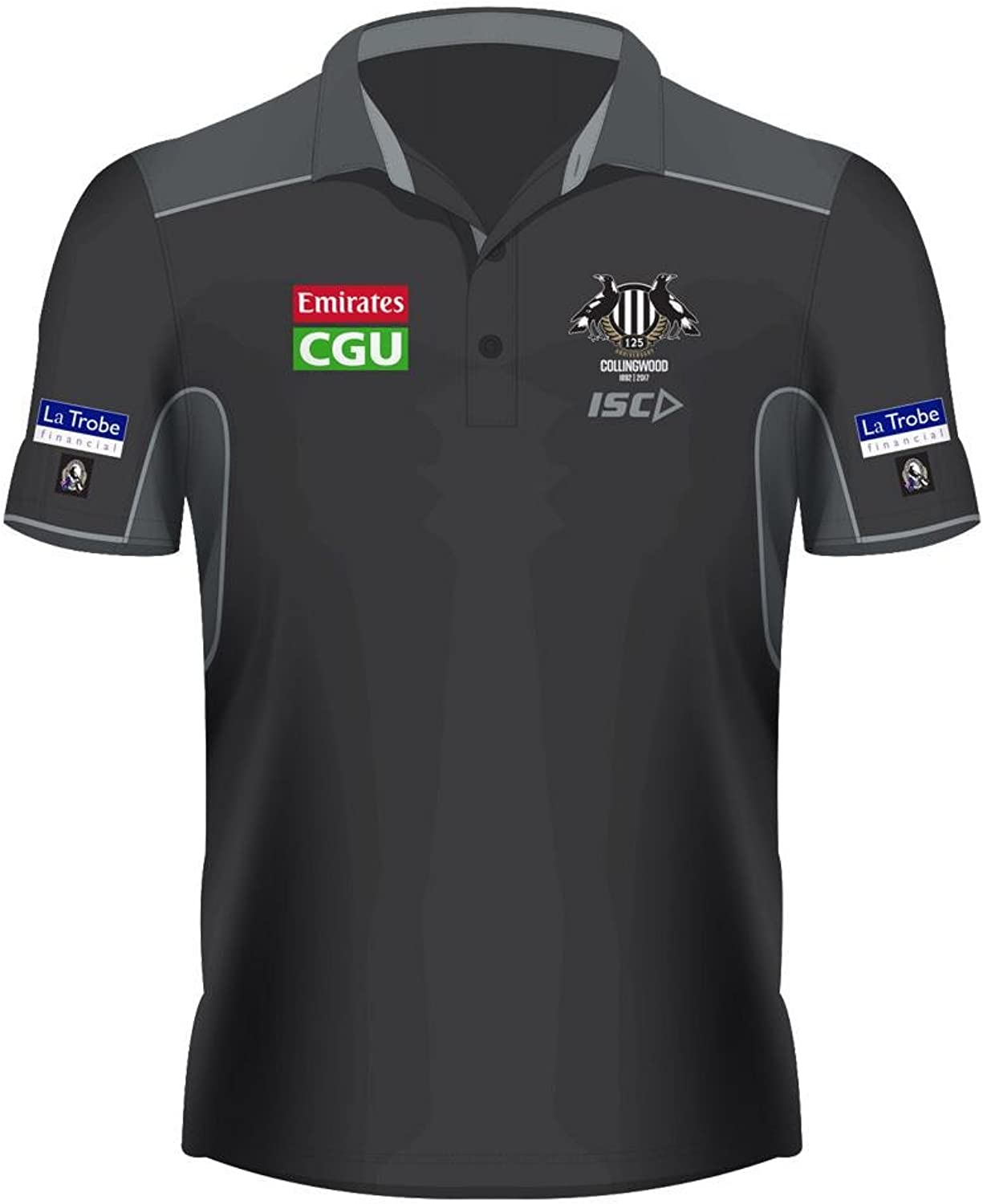 Collingwood Magpies AFL Footy ISC Mens Players Polo T-Shirt