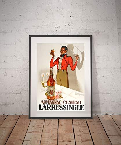 Rac76yd armagnac larressingle poster vintage vintage poster drank aperitieven alcholische reclame muur decor