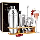 Baban coctelera Kit Profesional 10 Piezas, Cocktail Kit,750ML Cocktail Shaker, Que Incluye...