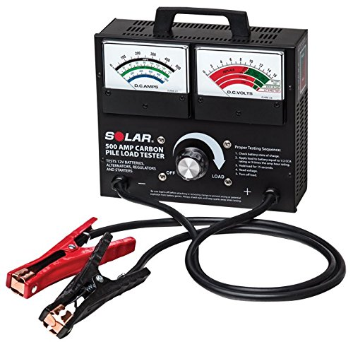 Clore Automotive Solar 1874 500 Amp Carbon Pile Battery Load Tester