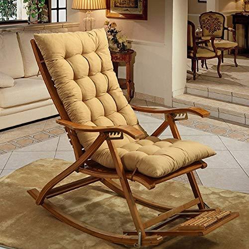 SNAL Cojín de Silla de salón de Patio de 120 cm, Cojines de Interior/Exterior Chaise Lounge Cojín de Silla Mecedora para jardín, colchón para Silla de Gravedad Cero