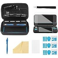 Bestico Funda Accesorios Kits para New Nintendo 2DS XL,Funda de Protección para Nintendo DS (New 3DS XL/3DS/3DS XL/New 3DS) con 16 Cartuchos de Juegos +Stylus Pen +Correa+4 Protector de Pantalla