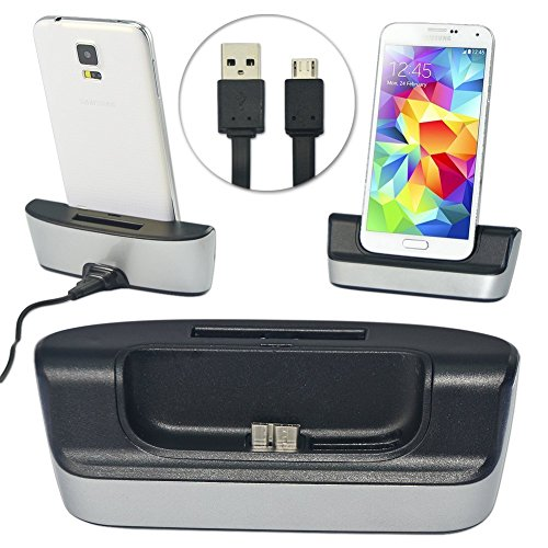 CM2202 first2savvv white desktop SYNC / Charging Cradle dock docking station battery charger stand with extra 2nd battery charger for Samsung Galaxy S5