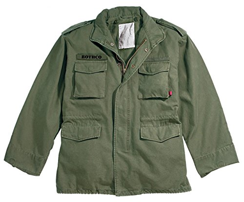 Rothco Vintage M-65 Field Jackets, L, Olive Drab