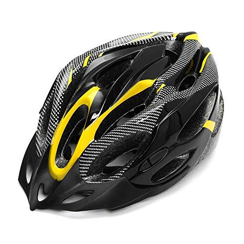 Vtops Casco de bicicleta ajustable de seguridad para adultos de fibra de carbono para ciclismo de carretera y montaña.