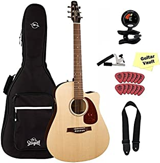 Seagull Coastline S6 Slim CW Spruce QIT (030910) Acoustic-Electric with Seagull Gig Bag and FREE Accessory Pack