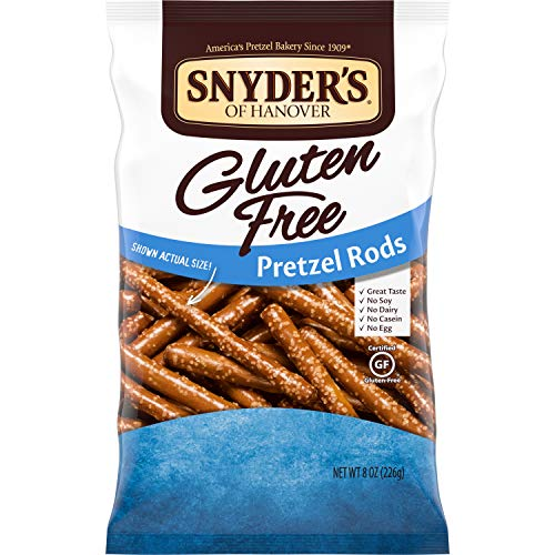 Snyder's of Hanover Gluten Free Pretzels, Gluten Free Rods, 8 Oz, Pack of 12