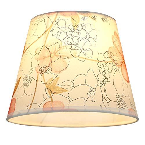 Eastlion 9.8inch E27/E14 PVC Lampenschirm Einfaches Leben Lampenschirme Für Tischlampe/Wandlampe,Rosa