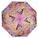 Paraguas Plegable con Funda Disney Princesas a Prueba de Viento Mini Nia 1299 - Rosa,