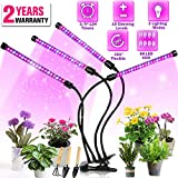 Grow Light, DILISS Upgraded Version 40W 4 Head Timing 80 LED 10 Dimmable