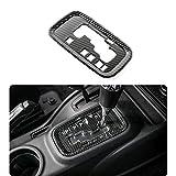 RT-TCZ ABS Gear Shift Panel Decoration Cover Trim Stickers Car Interior Accessories for Jeep Wrangler JK & Unlimited 2/4 Door 2011-2017 (Carbon Fiber)