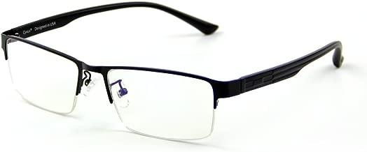 Cyxus Blue Light Blocking Computer Glasses [Better Sleep] Anti Digital Eye Strain Headache Video Eyewear (Black Browline Frame)