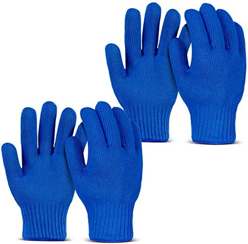 HANDLIKE 2 Pairs Cotton Oven Gloves Oven Mitts with Fingers Kitchen Pot Holders Double Heat product image