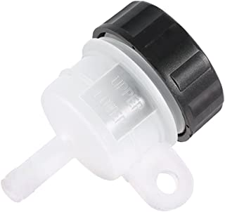 Lefossi Universal Motorcycle Foot Rear Brake Master Cylinder Tank Oil Cup Fluid Bottle Reservoir