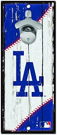 WinCraft MLB Los Angeles Dodgers Wood Bottle Opener Sign 5 x 11 Inch product image