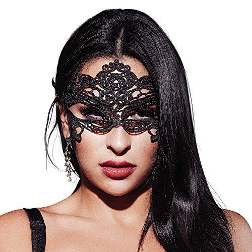 AIYUE Spitzenmaske Venetianische Maske Damen Spitze Maske Maskerade Gesichtsmaske für Karneval Fasching Verkleidung Kostüm Halloween Party Masquerade (Queen*1)