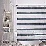 Home Maison Duschvorhang, Weiß / Marineblau, 72x72